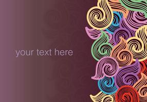 Stock Vektorgrafik Swirly Doodle Hintergrund vektor