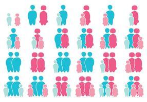 Nette Familie von Familien vektor