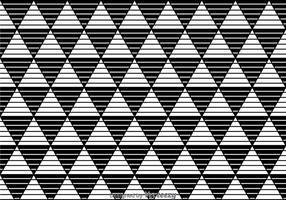 Streifen-Dreiecke Schwarz-Weiß-Muster