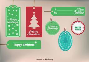 Frohe Weihnachten Geschenk Etiketten vektor