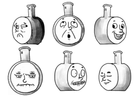 Thomas Der Zug Aquarell Gesichter