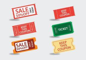 Unterhaltungs-Ticket-Vektoren