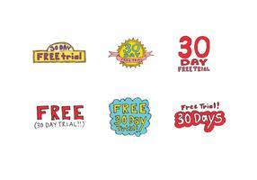 Kostenlose 30 Tage kostenlose Testversion Vektor Serie