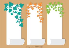 Ivy Vine On Paper Vector
