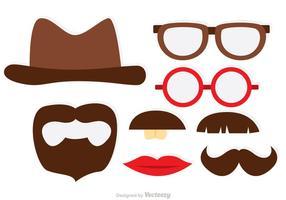Photobooth Mustaches Tema Vektorer