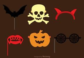 Halloween photobooth halloween set vektor