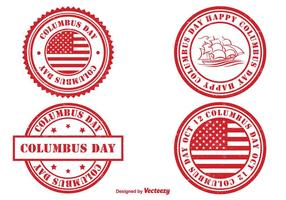 Columbus Day Stempel Set vektor