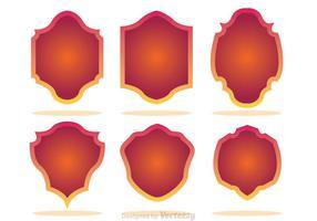 Gradation Shield Form Icons vektor