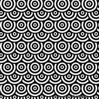 Schwarz-Weiß-Punkte Kreise Pattren vektor