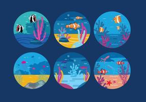 Unterwasser Hintergrund Vektor