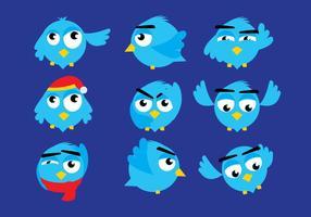 Twitter fågelvektorer
