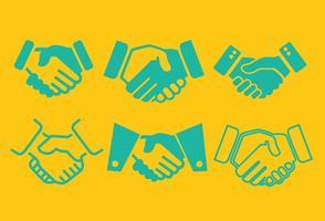 Handshake Ikonvektorer vektor