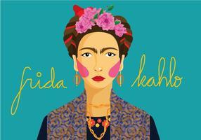 Frida Porträttvektor vektor