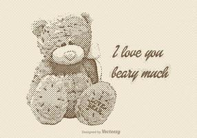 Gratis Vector Vintage Teddy Bear