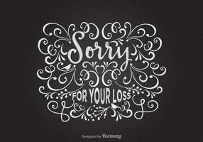 Freie Entschuldigung für Ihre Verlust-vektorkarte vektor