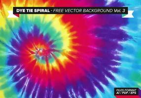 Dye Tie Spirale Free Vector Hintergrund Vol. 3