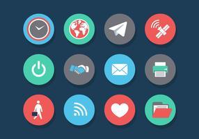 Vektor internet av saker ikonuppsättning