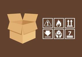Vektor Griff mit Pflege Sticker Pack