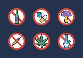 Vektor ingen drogerikon