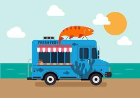 Vektor Meeresfrüchte LKW