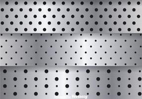 Gebürstetes Aluminium Metall vektor