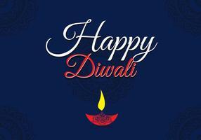 Glücklicher Diwali-Vektor