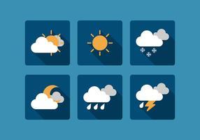 Vektor väder ikonuppsättning