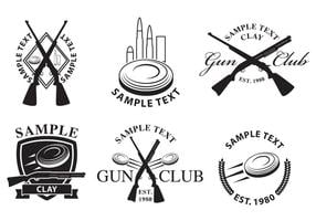 Gun club logos vektor