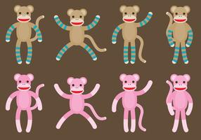 Socken Monkeys vektor