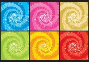 Tye Färgtexturer vektor