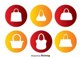 Vektor Tasche Silhouetten