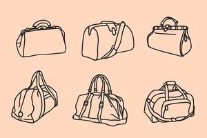 Vektor väska isolerade ikoner