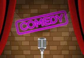 Vektor komedi klubb scenen