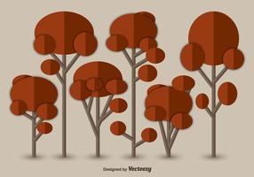 Flache herbstbäume vektor