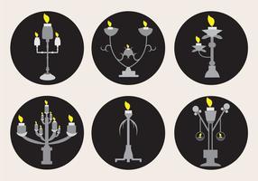 Silber Kerzenständer Sets vektor