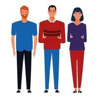 Gruppe von erwachsenen Charakteren vektor