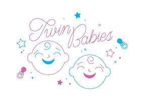 Free Twin Babies Vektor