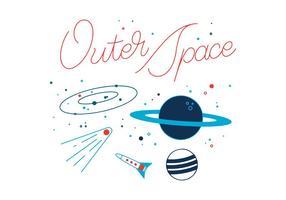 Freier Weltraum-Vektor