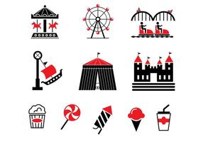 Grafschaft Fair Vector Icons