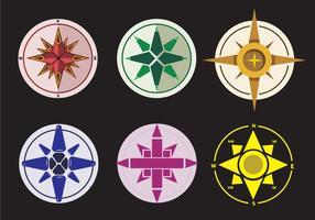 Färgglada Nautical Chart Vectors