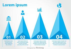 Pyramide-Diagramm Infografik