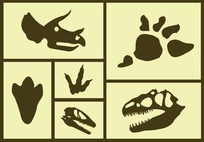 Vector Set von Dinosaurier Icons