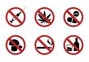 Set von Verbotszeichen in Vektor