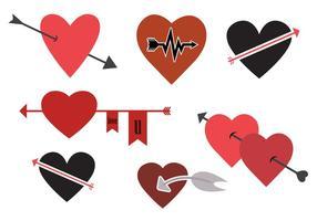 Vektor uppsättning hjärtsymboler