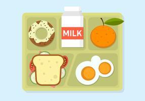 Vektor-Illustration der Schule Mittagessen vektor