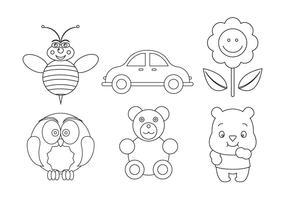 Set von Vektor-Symbole für das Färben