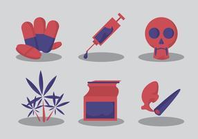 Kein Drogen-Vektor-Set
