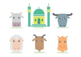 Eid Al Adha Vektor Set