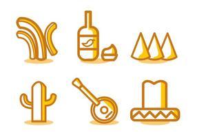 Mexikanische Lebensmittel Vektor Set
