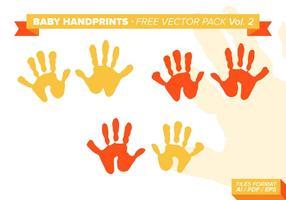 Baby handprints gratis vektor pack vol. 2